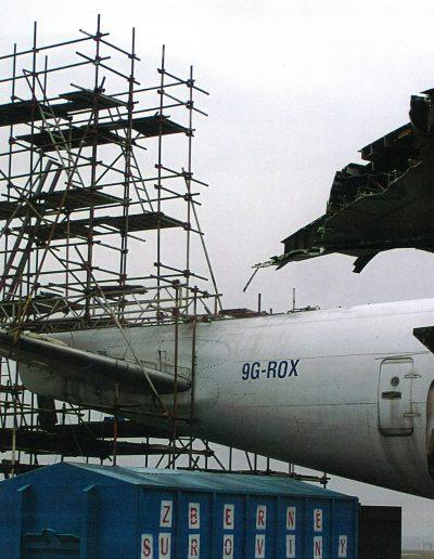 Demontáž Boeingu - Bratislava